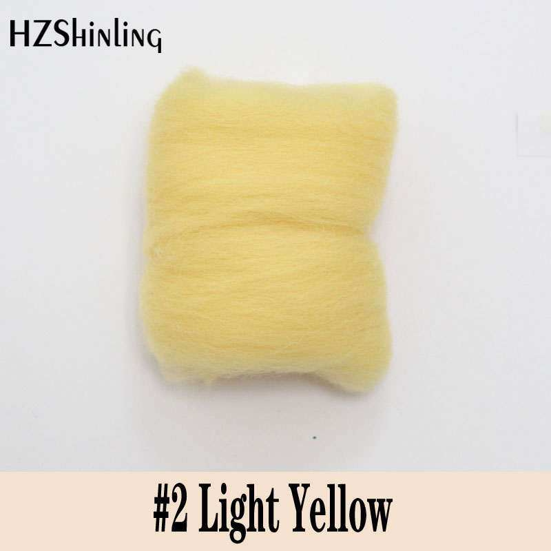 5 G Super Fast Felting Short Fiber Wool Perfect In Needle Felt And Wet Felt Light Yellow