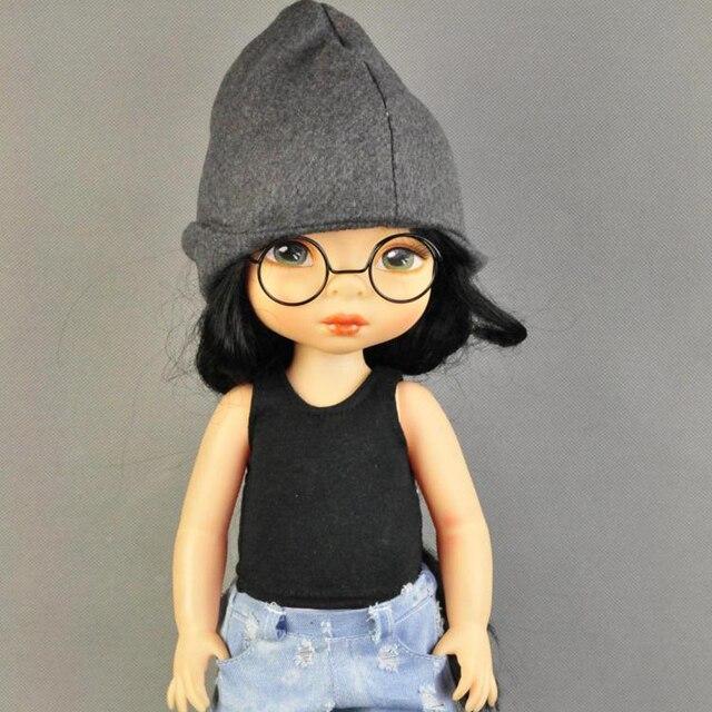 New Hot Pair Round Doll Black Frame Lensless Glasses for 1/6 Doll ...