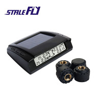 STABLE FLY Smart Car TPMS Tire Pressure Monitor System Solar Energy TPMS LCD Display With 4