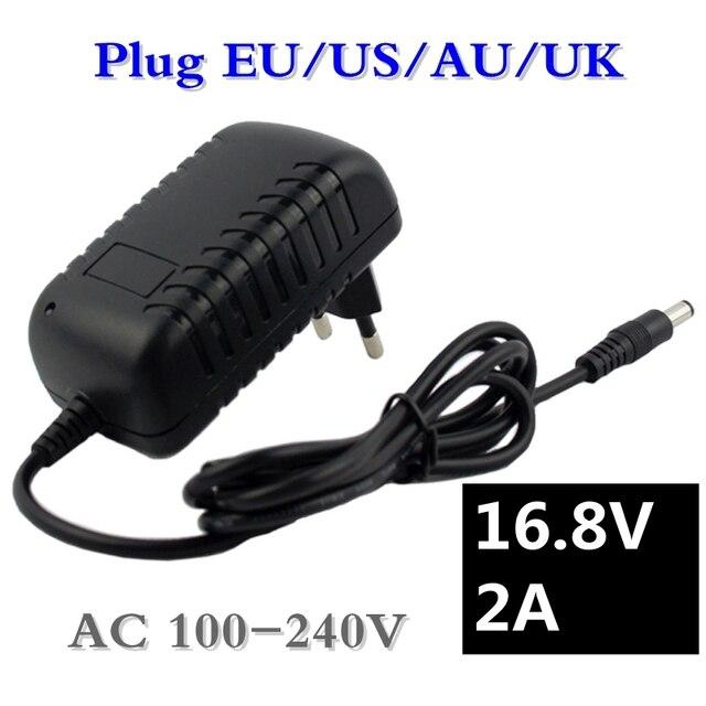 16.8 V 2A Schroevendraaier Lader voor 18650 Lithium Batterij 14.4 V 4 Serie Lithium li-ion Batterij Lader AC 100 v-240 V EU/US Plug