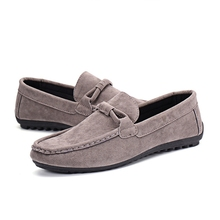 2018 New Fashion Autumn summer Mens Shoes Breathable Casual Canvas Flats  Flat for Loafers Peas