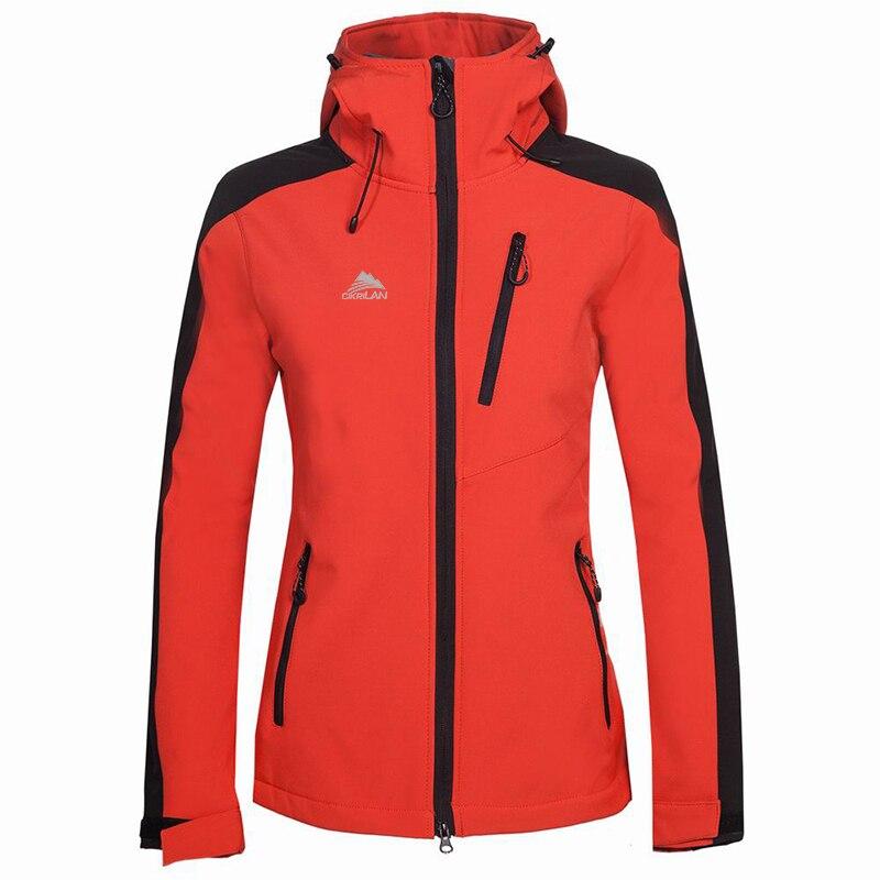 New Womens Windbreaker Sport Climbing Hiking Camping Trekking Coat Softshell Outdoor Jacket Women Fleece Lining Fishing