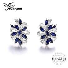 Jewelrypalace diseño único 2.1ct lujo creado sapphire clip en los pendientes de plata de ley 925 2016 nueva joyería fina para las mujeres