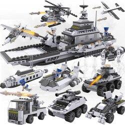 732 шт. Legoings 8 в 1 SWAT для самолета носителей кирпичи 25 моделей военный корабль DIY модели блоков Наборы мальчиков подарки детям весело
