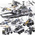 732Pcs Legoings 8 In 1 SWAT for Aircraft Carri Bricks 25 Models Military Ship DIY Model Building Blocks Kits Boys Gifts Kids Fun