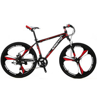 Cyrusher X3 Mans Mountain Bike 26x17 Inch Aluminum Alloy Frame Fork Suspension 21 Speed 3 Knife