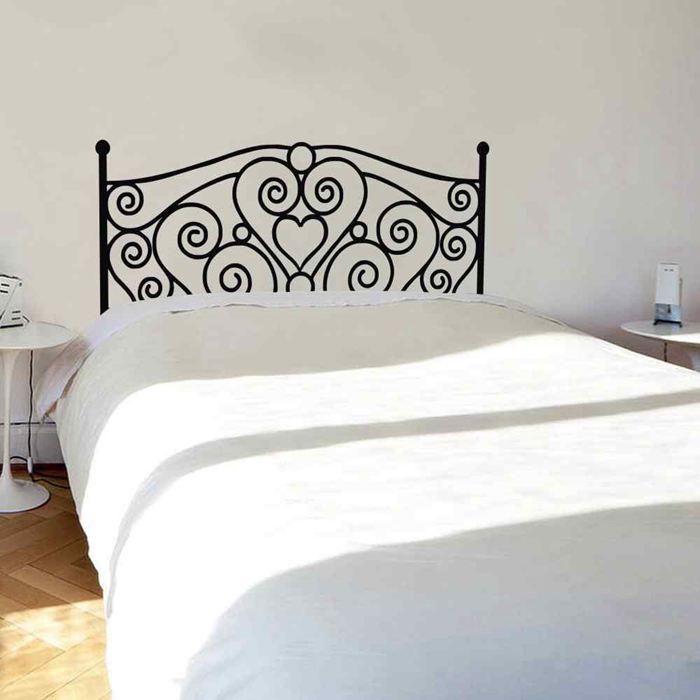 Battoo home decor abstract scroll shabby chic headboard - Plantillas pared ikea ...