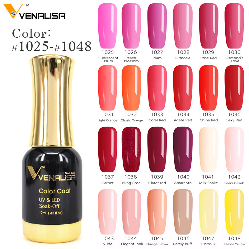 #60751 Venalisa Nail Gel Polish High Quality Nail Art Salon Tip 120 Color 12ml VENALISA Soak Off Organic UV LED Nail Gel Varnish