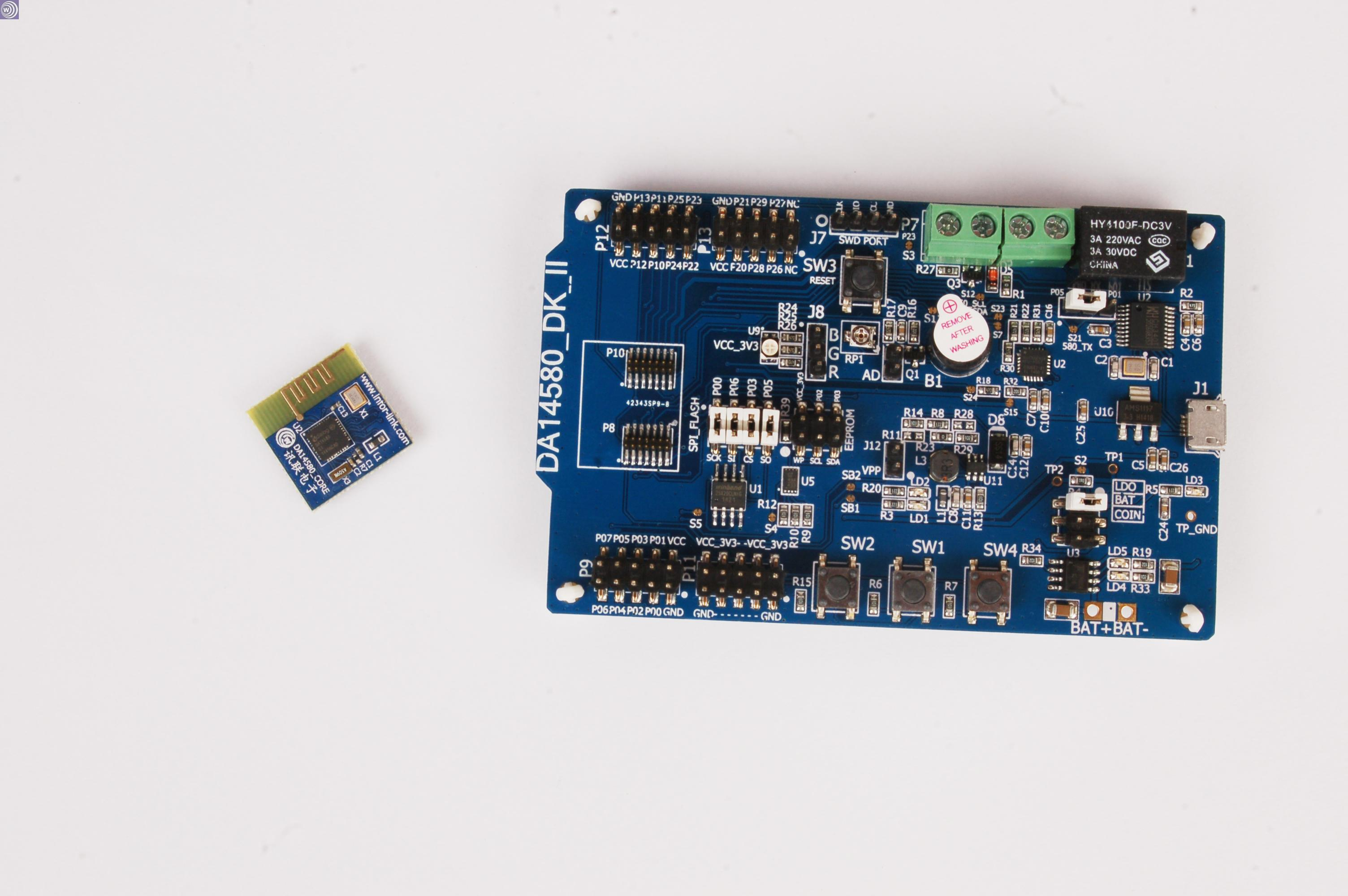 The industry's lowest power consumption Bluetooth 4.0BLE development board DA14583DK_II chip FLASH hot da14580 ak bluetooth ble development board ibeacon millet bracelet lis3dh power industry