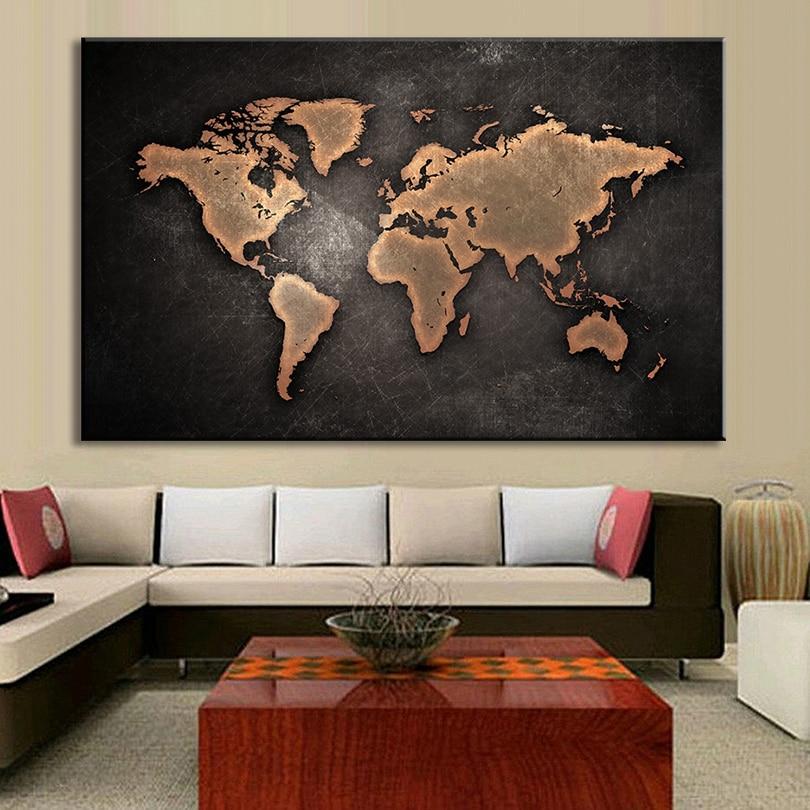 Aliexpress.com : Buy 1 PCS/Set Huge Black World Map ...