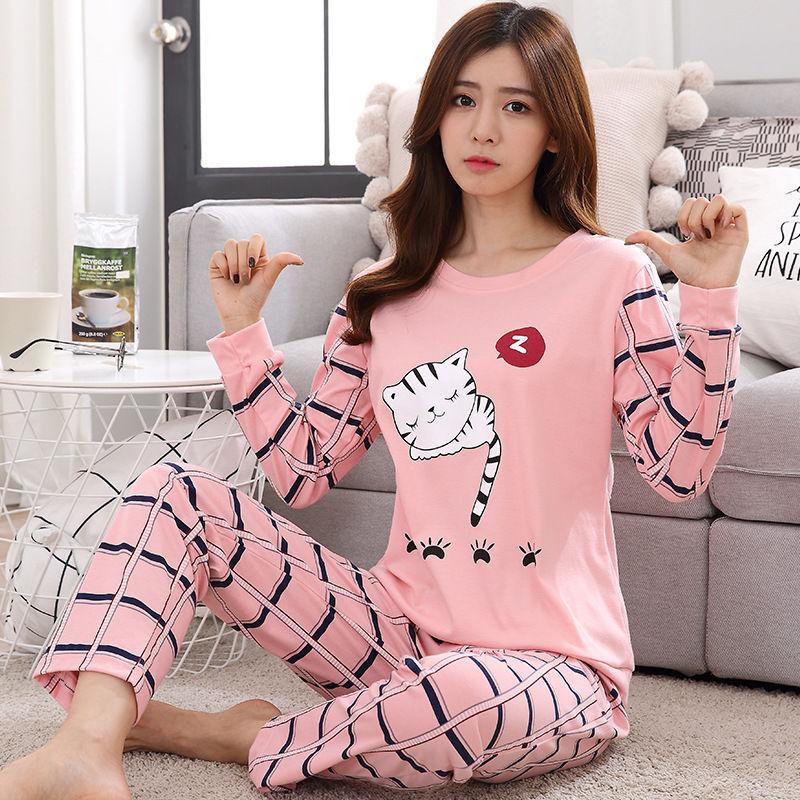 Cotton Women Pijama Sleepwear Winter Female Pajamas Sets Thick Warm Female Suit Long Sleeve Pyjamas Women Girl Home Clothes 26