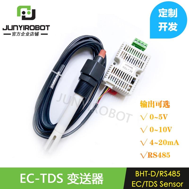 EC Transmitter TDS Sensor Module Conductivity 4-20 MA Analog Voltage Output RS485 OutputEC Transmitter TDS Sensor Module Conductivity 4-20 MA Analog Voltage Output RS485 Output