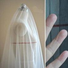Tecido de malha de casamento transparente super do desenhista material de rede de pele preta branca do véu de noiva