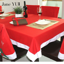 Christmas Santa Claus Tablecloth White/Red Festivals Household Decoration tablecloth on day 132*208cm
