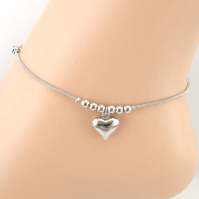 Heart Charms Beach Anklet2
