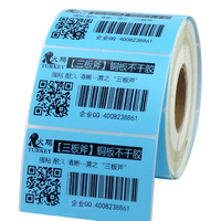 blue  color  barcode thermal transfer  label  80mm  x50mm(1000 labels)  5 color available|label label|labels thermal|label color -