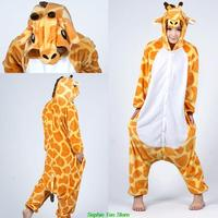 Anime Flannel Pajamas Pyjamas Giraffe Adult Special Use Clothing Onesie Cosplay Costume Hoodies Sleepwears Wholesale