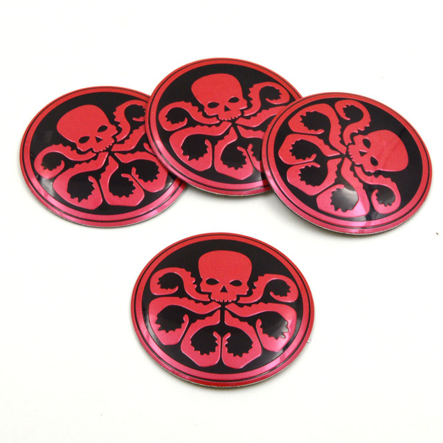 4pcs lot red color 56mm hydra alloy car decals wheel center hub caps rim sticker