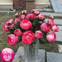 offer high quality flower simulation 2 roses living room table put decorative plastic silk flower stem floral bouquet