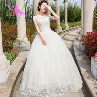 AIJINGYU 2018 marriage free shipping new hot selling cheap ball gown lace up back formal bride dresses wedding dress WK511