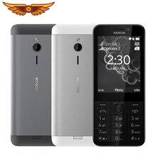 Разблокированный Nokia 230 GSM 2,8 дюймов две sim-карты и одна sim-карта 2MP QWERTY английская клавиатура Восстановленный мобильный телефон