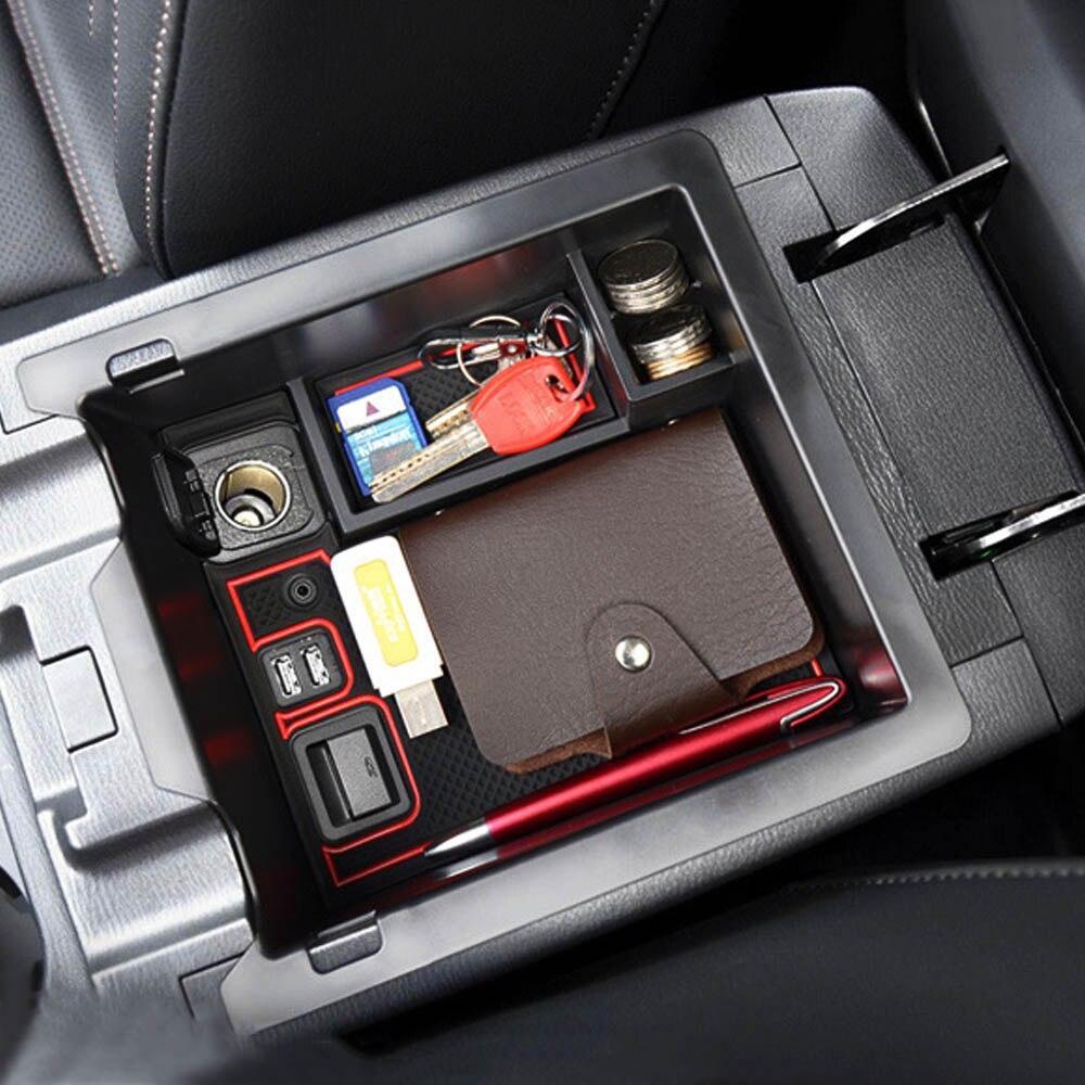 Główny schowek w podłokietniku w samochodzie pudełko dla Mazda CX-5 CX5 CX 5 2017 2018 akcesoria konsoli podłokietnik organizer z tacką etui na uchwyt palet