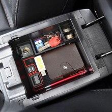Główny schowek w podłokietniku w samochodzie pudełko dla Mazda CX 5 CX5 CX 5 2017 2018 akcesoria konsoli podłokietnik Organizer z tacką etui na uchwyt palet