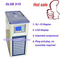 Free Shipping 3L/ 15Degree recirculating cooling equipment laboratory recirculating water chiller with 2L rotary evaporator