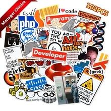 100pcs Internet Programming stickers for Laptop Programer science JS Php C Language Cloud Docker Developer sticker