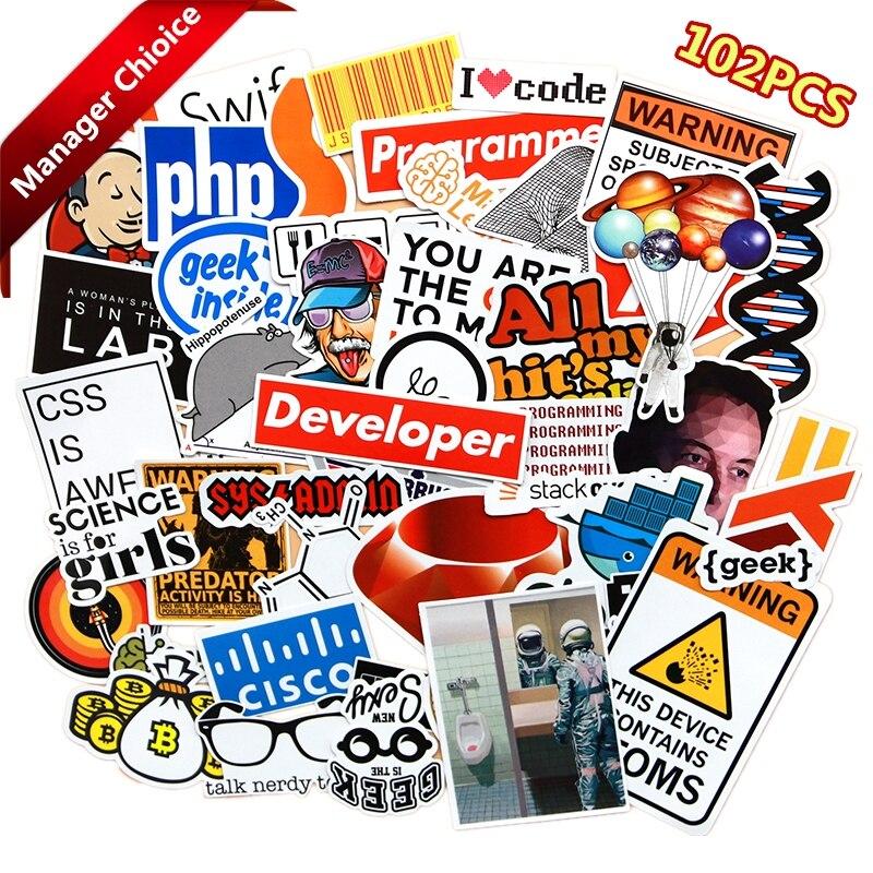 Klassische Spielzeug Aufkleber 102 Stücke Internet Programmierung Aufkleber Wissenschaft Js Php C Sprache Wolke Docker Entwickler Aufkleber Für Diy Laptop Telefon Auto