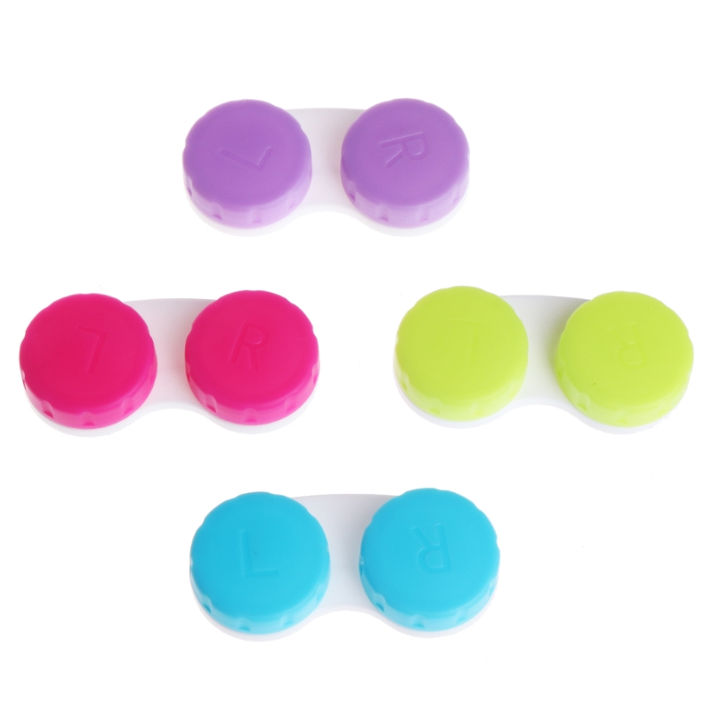 4pcs/lot Cosmetic Contact Lenses Box Contact Lens Case For Eye Color Care Travel Kit Holder Container Lot Wholesale
