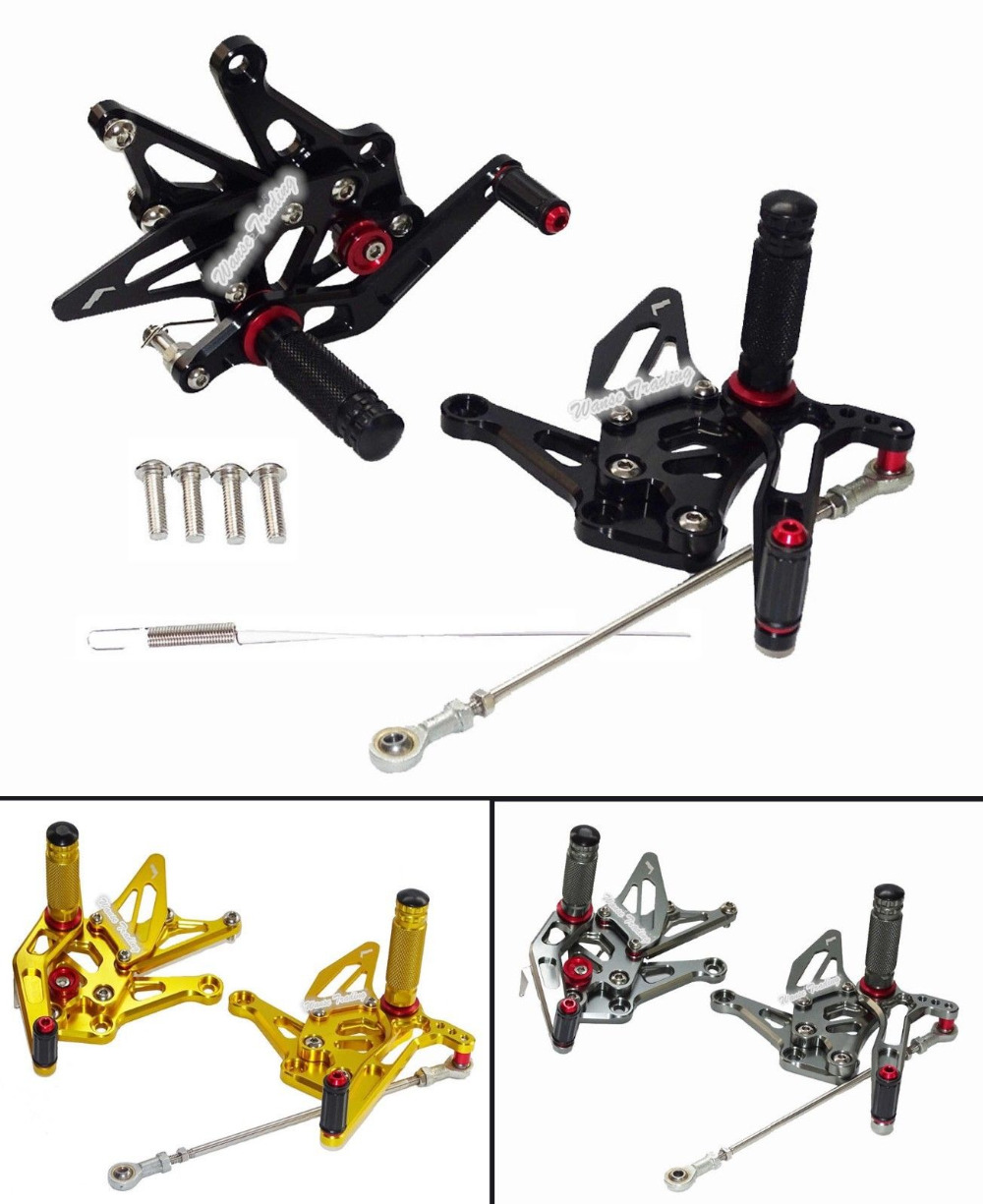 Motorcycle CNC Aluminium Adjustable Rider Rear Sets Rearset Footrest Foot Rest Pegs For KAWASAKI Z1000 ZR1000 ZRT00F 2014-2016 waase moto cnc aluminium adjustable rider rear sets rearset footrest foot rest pegs for kawasaki z750 z750s 2004 2005 2006