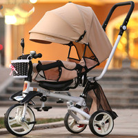 Детский трехколесный велосипед может лежать или садиться на детский велосипед детская коляска регулируемая спинка сиденья
