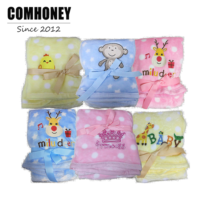 Baby Blanket Swaddle Newborn 76*100 cm Cotton Soft Dot Pattern Elk Fleece Infant Breathable Crib Cover  Christmas Gifts New Year