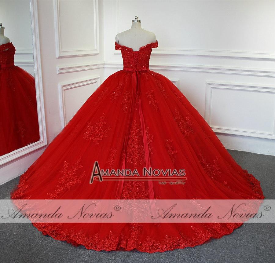 spesso Abito da sposa 2019 Abito Da Sposa Rosso Dell'abito di Sfera Della MK45