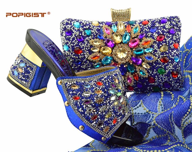 Blue Correspondant Pour gold Pu sky Africaines La Femmes Fixés Couleurs Matériel Sac 6 Assortir Avec red Et peach Des Italien Sacs Black purple Fête À Chaussures royal Dames Blue qBzgxwOEO