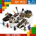 621 шт. Бела Ninja 9788 Ultra Sonic Raider Строительный Блоки Игрушки Подарки Ninja Кирпичи Совместимы с Lego