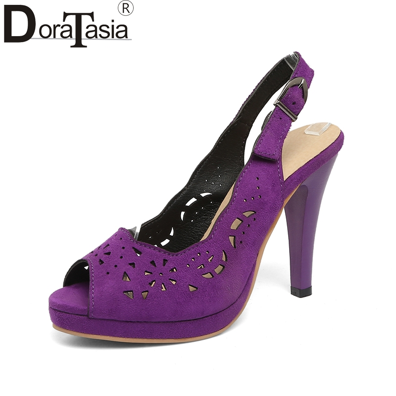 DoraTasia Big Size 34-43 Beste kwaliteit Zomer hoge hakken holle - Damesschoenen