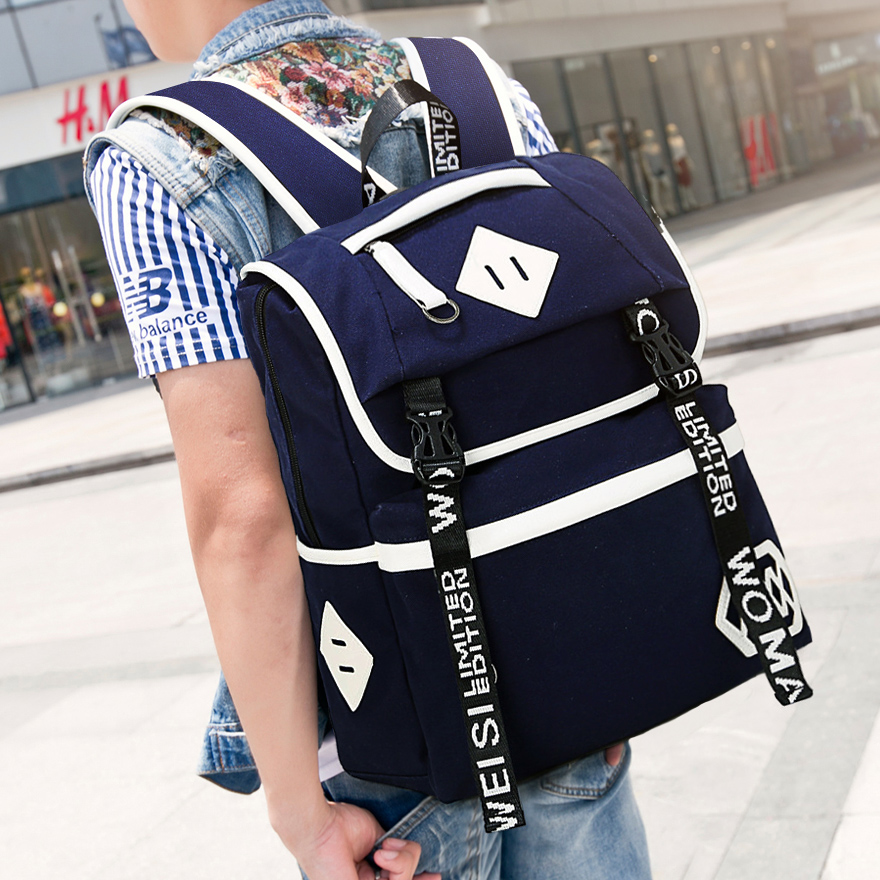 5bd71503e3 Warman Wisconsin influx of European and American brand new bag man fashion  street casual canvas backpack sports bag 315 on Aliexpress.com