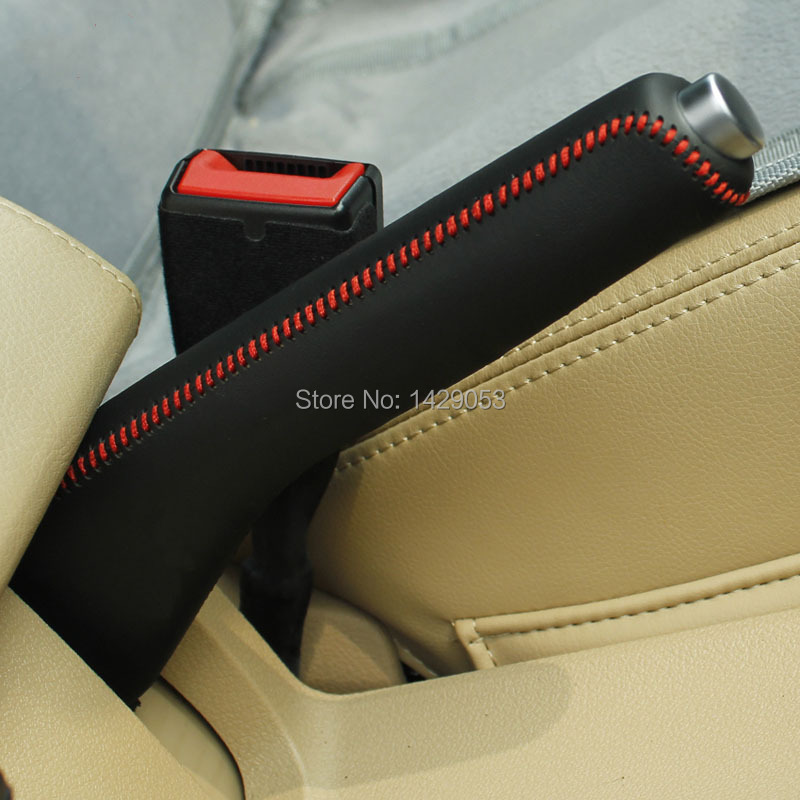 Handbrake Leather Covers Case For Volkswagen VW Touran DIY Car Styling  Auto Decoration Genuine Leather Grips