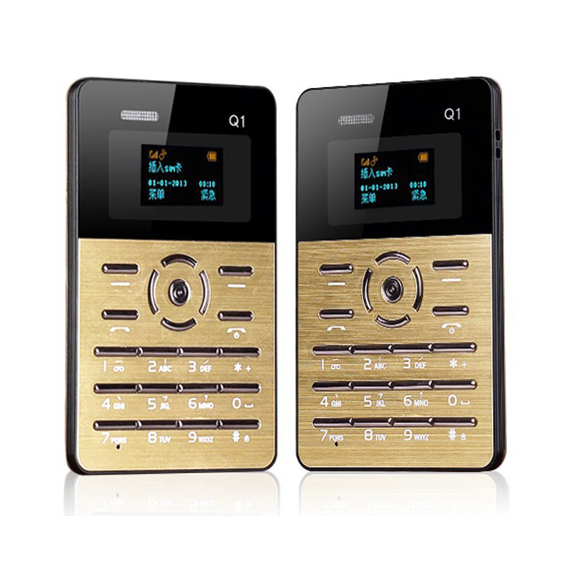 Russian Keyboard Original AIEK Q1 Ultra thin Pocket Card Children Student Mobile Phone MP3 Player FM