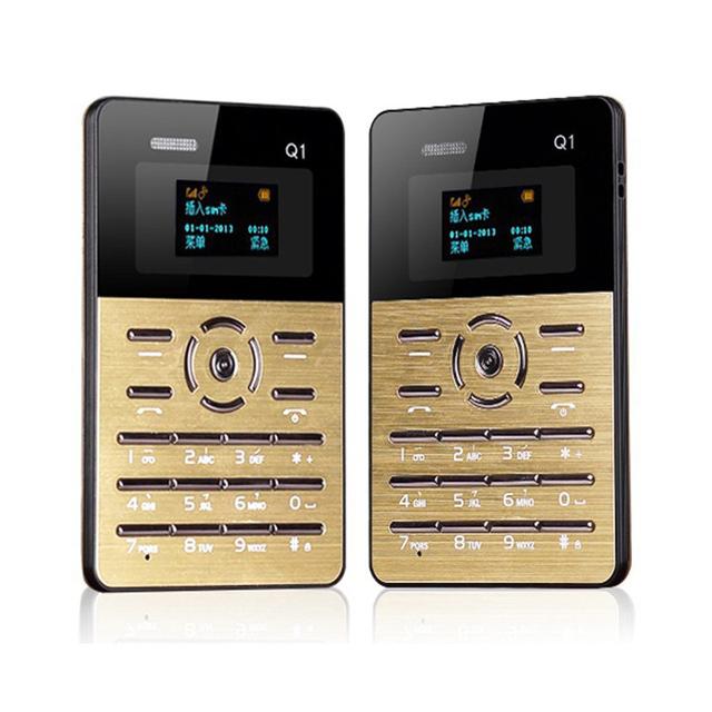 Teclado ruso original aiek tarjeta q1 ultra delgado de bolsillo niños estudiante teléfono móvil reproductor de mp3 fm pk aiek m5 m3 e1 c6