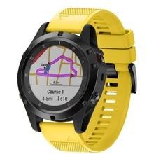 Ремешок для часов мягкий силиконовый ремень сменный ремешок для Garmin Fenix 5X Plus Smartwatch QJY99