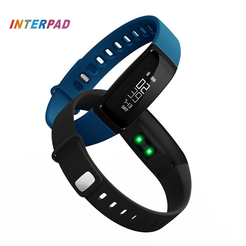 Interpad V7 Smart Band Blood Pressure Watch Smart Bracelet Wristband Heart Rate Monitor Smartband Fitness For