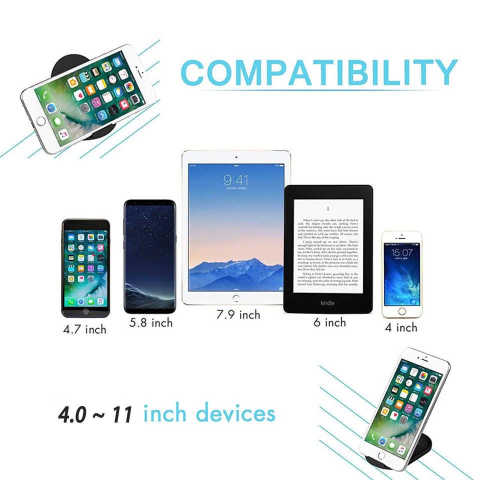 Lipat Sel Ponsel Jam Dudukan untuk Huawei P30 Mate 20 Pro Samsung S10 S9 Catatan 10 Tablet Desktop Dock smartphone Mendukung