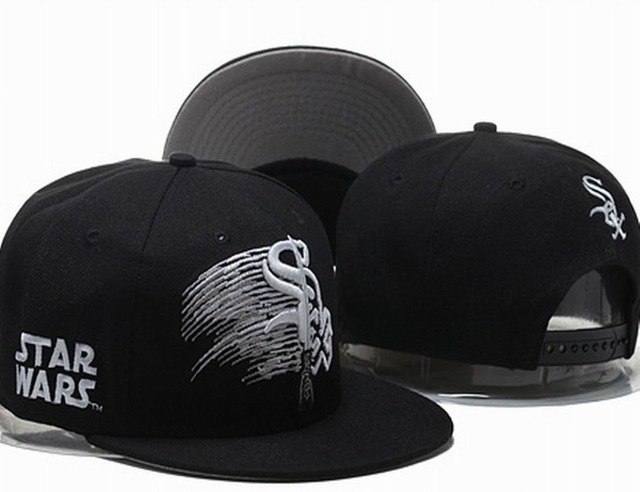 2015 Men s Full Black Chicago White Sox Snapback Hat Star Wars Embroidered  Logo Baseball Team Adjustable Cap a5878127b4a