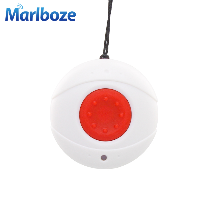 Marlboze Wireless 433mhz Emergency Button SOS Button Panic button for Home Security GSM Alarm System Elder Kid Security Button 2 receivers 60 buzzers wireless restaurant buzzer caller table call calling button waiter pager system