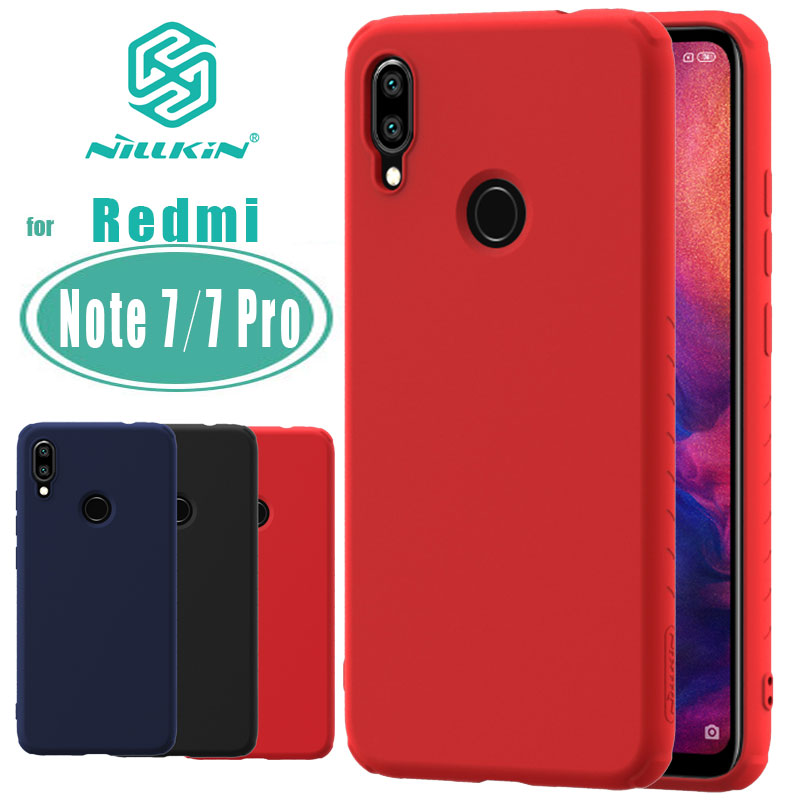 Note 7 Pro Case For Xiaomi Redmi Note 7 Case Nillkin Rubber Wrapped Liquid Silicone Soft Touch Back Cover Nilkin Phone Case