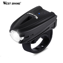 WEST BIKING Touch Key 250 Lumens Bike Light USB Charging Flashlight Cycling Front Road MTB Bicke Accessories Bicycle