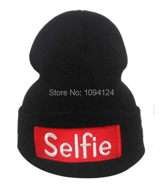 ... High Elastic Adult Beanie Selfie Letter Warm Hats Winter Casual Warm  Beanie Hip Hop Supports Embroidery ... 6aa2da44c647